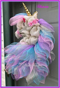 Made to Order Unicorn Wreath Whimsical Fairy tale Kids