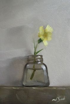 Original Oil Painting - Primula - Miniature Still Life Art - Nelson