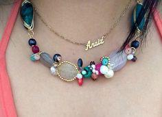 Collar alambrado en chapa de oro 18k en turquesa coral ágata jade  Cadena personalizada chapa de oro 18k  Whatsapp 6444089134