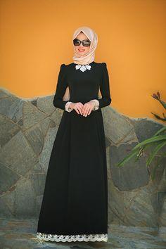 Mevra - Berre Elbise Siyah