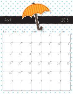 2015 Printable Calendar – Free Printable Calendar Handmade by iMOM
