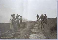 Tour de France 1913. 08-07-1913, 6^Tappa. Bayonne - Luchon. Col d'Aubisque. Firmin Lambot (1886-1964), 4° in cima al colle.