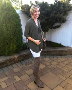Olive green tunic, Marc Fisher OTK boots, women's fashion, fall fashion, nordstrom, fall looks
