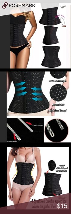 (Size XXL ) black waist trainer HBest Quality Slimming Belt Waist Cincher Women Waist Trainers Shapewear Training Corset Body Hot Shapers Postpartum Belly Band 4 bones  available size S---3Xl Accessories Belts
