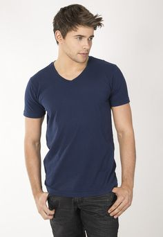 """Men's classic fit V-Neck. 30's 100% Cotton combed ring spun pre-shrunk reactive garment dyed and enzyme washed for softness. Use Promo Code """" JSFRIENDS """" during purchase and get 20% off. www.jsapparel.net All JS Apparel garments made in USA."""