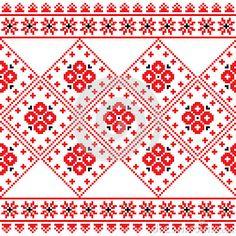 German Folk Art Patterns   Ukrainian, Eastern European folk art embroidery pattern or print ...