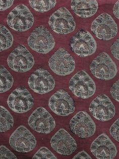 Maroon Red Grey light brown Hand Block Printed Cotton Fabric Per Meter - F001F1137  #fabric #Buyfabric #Onlinefabric #Newfabric #Buyonlinefabric #Shopfabric #Cottonfabric #blockprint #fabrics  #naturaldye #traditionalart #ethnic  #fashion #style #tyeanddye #New #indubindu