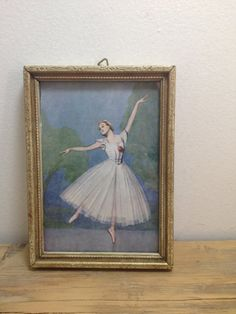 Vintage Ballerina Picture by TheHoundsofLove on Etsy, $15.00