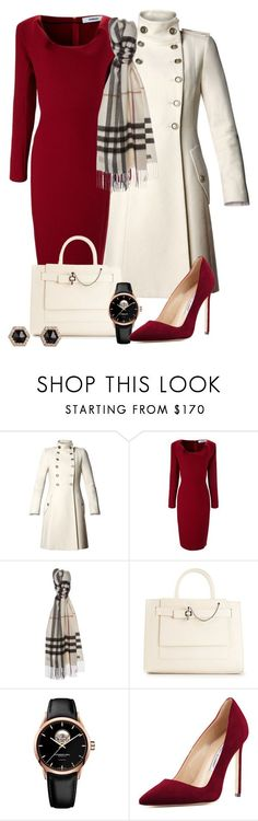 """Olivia Pope Re-styling"" by habiba11 ? liked on Polyvore featuring MANGO, Chalayan, Burberry, Carven, Raymond Weil, Manolo Blahnik and Monique Péan"