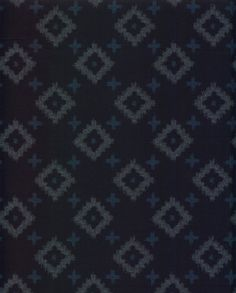 Diamonds and Crosses Japanese Indigo Printed by QuiltingFoxes, $5.00