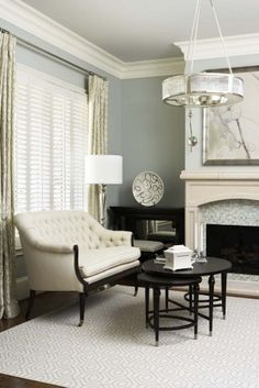 I like the pale colors, mixed in with the dark furniture... however I would spill something/dirty it quickly