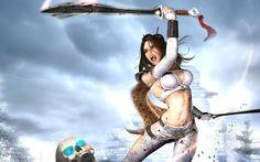 Fantasy Girl Skull Warrior Sword Picture