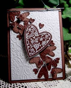 "Chocolate ""Falling For You"" Valentine Card...patsmethers - Cards and Paper Crafts at Splitcoaststampers."