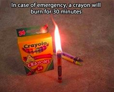Electricity problems? Keep a box of crayons nearby. | 15 Kick Ass Hacks You've Never Heard Of But Will Immediately Want To Try