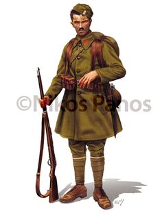 Greek Army military uniforms through the period.These are some of several illustrations in my portfolio published in historical books and magazines. Ww2 Uniforms, Military Uniforms, Hellenic Army, Greek Soldier, Army Uniform, Military Diorama, Military History, World War Two, First World