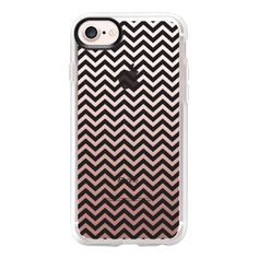 Modern simple black white elegant chevron - iPhone 7 Case And Cover (930 HNL) ❤ liked on Polyvore featuring accessories, tech accessories, iphone case, iphone cover case, apple iphone case, iphone cases, black and white iphone case and clear iphone case