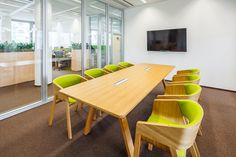 Merano armchair and Stevio table by TON, Jacobs Douwe Egberts; Lyra Office Building, showroom and lab; Conference Chairs, Conference Room, Traditional Chairs, Meeting Table, Bent Wood, Prague Czech, Upholstered Chairs, Czech Republic, Interior Inspiration