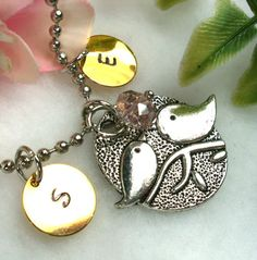 Personalized Large Love Birds on a Branch Charm by CharmAccents, Want this!
