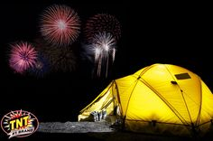 Few things are better than perfect weather, the great outdoors and TNT Fireworks. #TNTFireworks #Camping #Outdoors