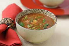 Ethiopian-Inspired Red Lentil Soup, fat free, vegan