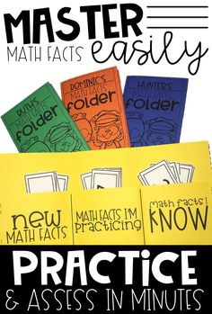 Math Fact Fluency Folder for Practicing and Assessing Multiplication Facts Math Fact Fluency, Multiplication Facts, Math Facts, Fourth Grade Math, Second Grade Math, Math Tutor, Teaching Math, Teaching Ideas, Math Fact Practice