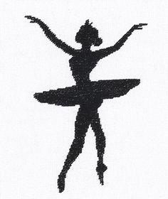 Ballet Silhouette Cross Stitch Kit By Lanarte (three)