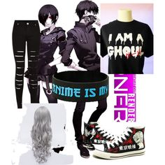 Tokyo Ghoul by kwongmonster on Polyvore featuring polyvore, fashion and style