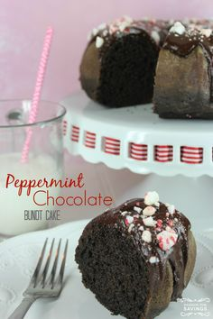 Peppermint Chocolate Bundt Cake! Easy Peppermint Recipe for Christmas! Try this Holiday Dessert Recipe now!