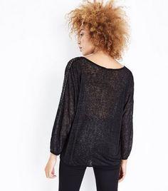 Prezzi e Sconti: #Mela black sequin batwing sleeve jumper  ad Euro 29.99 in #New look #Womens clothing knitwear