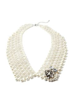 CHLOE & THEODORA Peter Pan Collar Necklace with Cluster Pendant