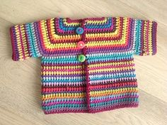 Colourful Baby Vest By Annelies Baes (Vicarno) - Free Crochet Pattern - (ravelry)