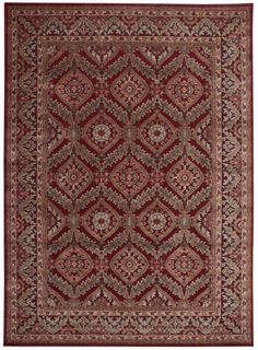 Nourison Graphic Illusions Red Area Rug GIL24 RED (Rectangle)