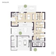 Bungalow House Plans, House Floor Plans, Flat Plan, Architectural Floor Plans, House Layouts, House Goals, Minimalist Home, Planer, Architecture Design