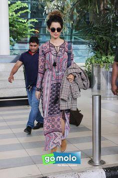 Kangana Ranaut snapped at Mumbai Domestic Airport