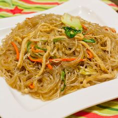 Japchae an authentic Korean recipes learned from a couple I couchsurfed with in South Korean. SImple to make and full of delicious flavors. Stir fry for dinner. Stir Fry Recipes, Noodle Recipes, Cooking Recipes, Kitchen Recipes, Korean Dishes, Korean Food, Chinese Food, Asian Recipes, Healthy Recipes