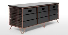 Amph storage in copper and grey from made.com