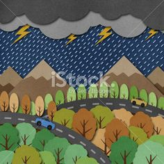 Nature view recycled paper craft Background Royalty Free Stock Photo