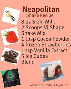 Meal Replacement Shake - only 224 calories and is perfect for the Chocolate, Strawberry, or Vanilla Craving...