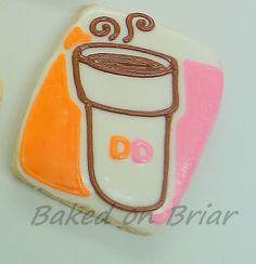 Cookie Flavors, Cookie Recipes, Birthday Cookies, 40th Birthday, Cookie Crush, Coffee Cookies, Dunkin Donuts, Cookie Decorating, Sugar Cookies