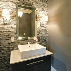 Contemporary Powder Room Design, Pictures, Remodel, Decor and Ideas - page 5