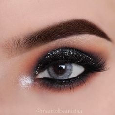 """1,818 Likes, 9 Comments - Marisol Bautista (@marisolbautistaa) on Instagram: """"Tutorial on Previous Post! Black Smokey Eye With ✨Glitter✨  These contacts are from @ifairycon…"""""""