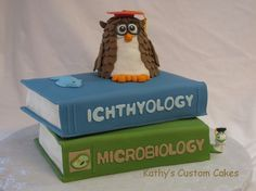 Double Graduation Books Cake