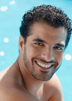 Mens curly