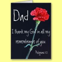 Father's Day bible verse Philippians 1:3 greeting card