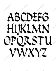 Ancient Roman Calligraphy A to Z uppercase letter stencils