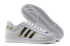 Buy Adidas Superstar 2 Bling G62845 Leather White Gold Trainers UK Now http://www.hotsportuka.com