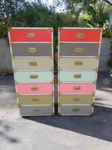 What a colorful pair of campaign dressers! Imagine the color combinations you could come up with...
