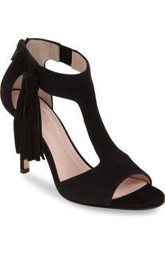 kate spade new york 'inga' fringe T-strap sandal (Women) available at #Nordstrom