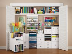 #Create an #organized #craft area in little space.