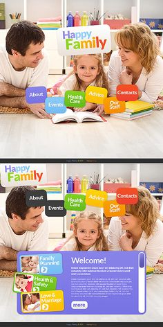 Family Circle Moto CMS HTML Templates by Mercury